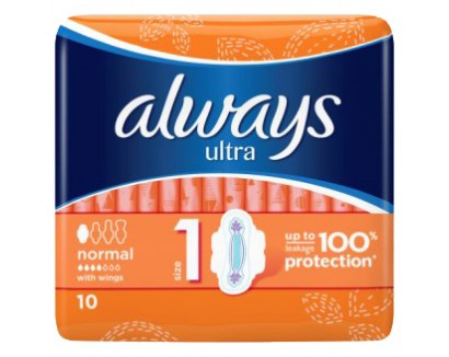 ALWAYS ABSORBANTE 10BUC ULTRA NORMAL PLUS