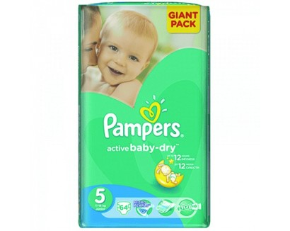 PAMPERS NEW GIANT PACK NR. 5