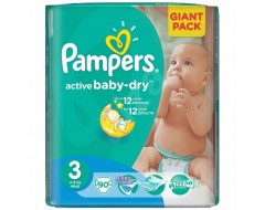 PAMPERS NEW GIANT PACK NR3 4-9KG 90BUC