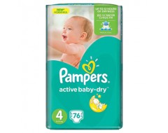 PAMPERS NEW GIANT PACK NR4 7-14KG 76BUC